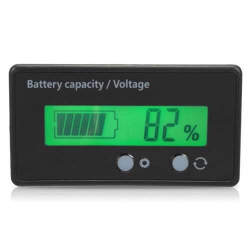 Volt meter LCD Meter Indicator 6v-63v 12v,24v,36v,48v 2s-15s Lithium Ion Battery, Lead, AGM