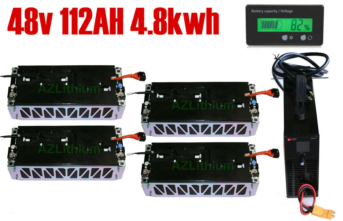 48v 112AH 4.8KWH Lithium Ion Battery bank 4 Golf Cart ATV Motorcycle conversion